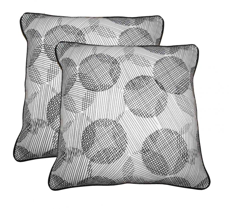Buy Lushomes Geometric Print Cotton Cushion Covers Pack Of 2_coccpd12_1013 online