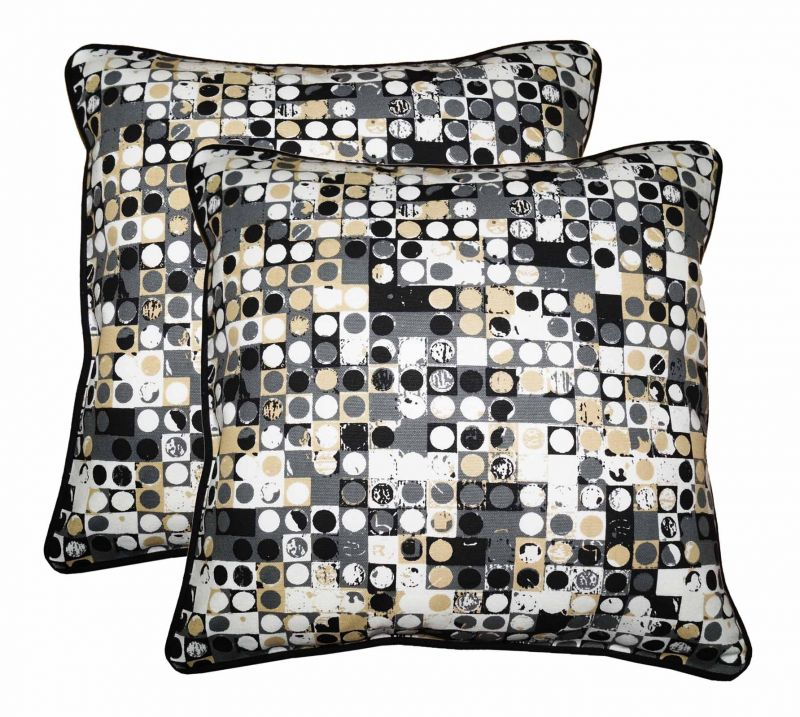 Buy Lushomes Coins Print Cotton Cushion Covers Pack of 2 online