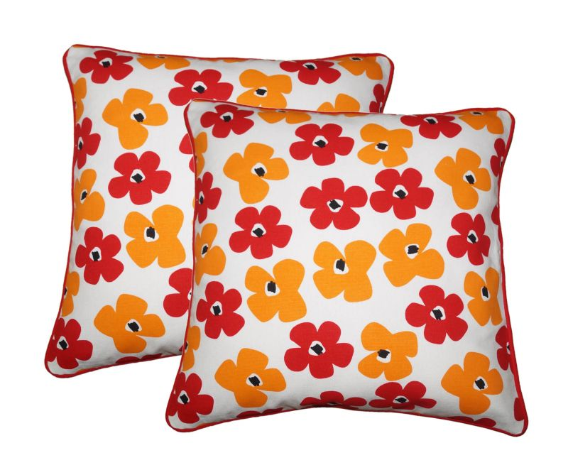 Buy Lushomes Basic Print Cotton Cushion Covers Pack of 2 online