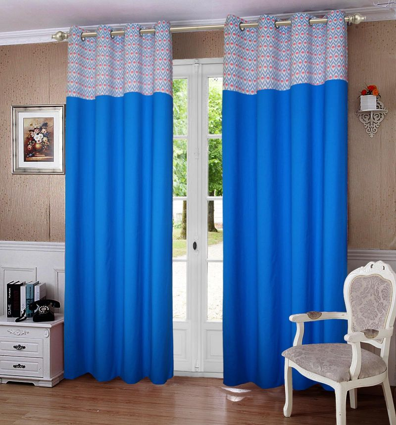 Buy Lushomes Diamond Print Bloomberry Single Curtain For Door_cocnbbd1003 online
