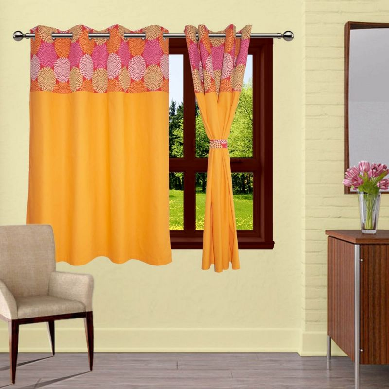 Buy Lushomes Spiral Bloomberg Curtains With 8 Eyelets & Tiebacks For Window online
