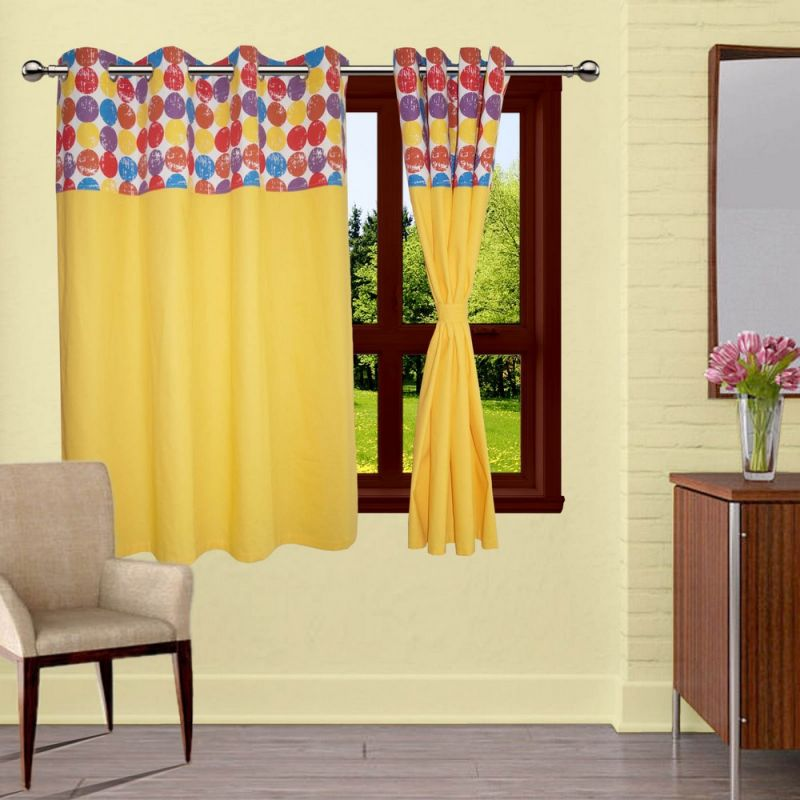 Buy Lushomes Titac Bloomberg Curtains With 8 Eyelets & Tiebacks For Window online