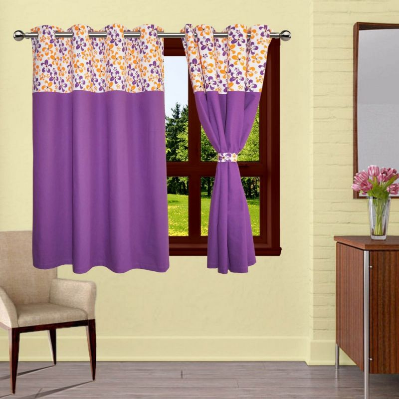 Buy Lushomes Shadow Bloomberg Curtains With 8 Eyelets & Tiebacks For Window online
