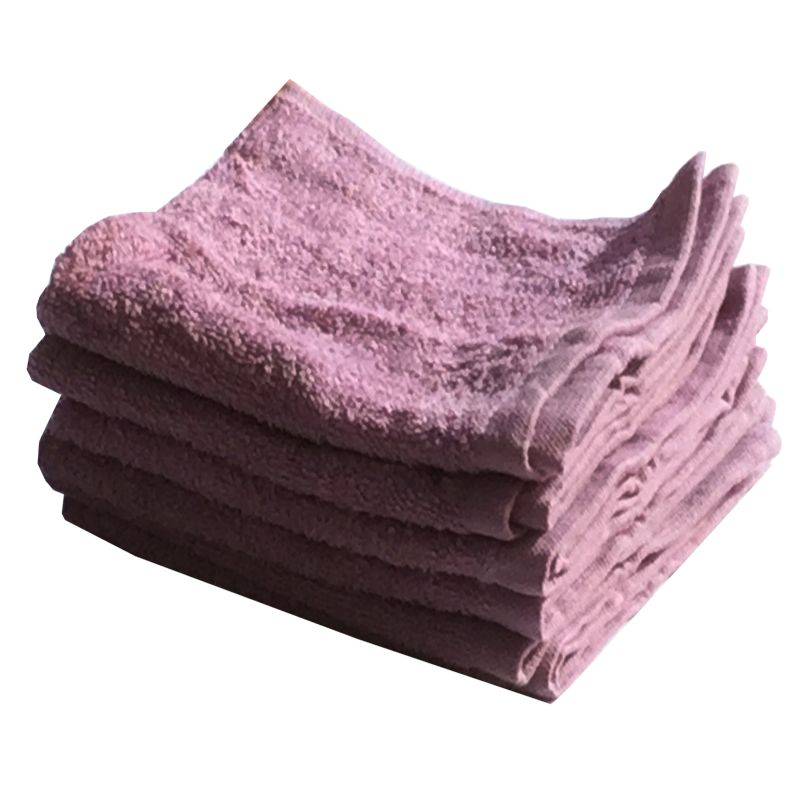 Buy Lushomes Cotton Light Purple Face Towel Set (pack Of 6) online