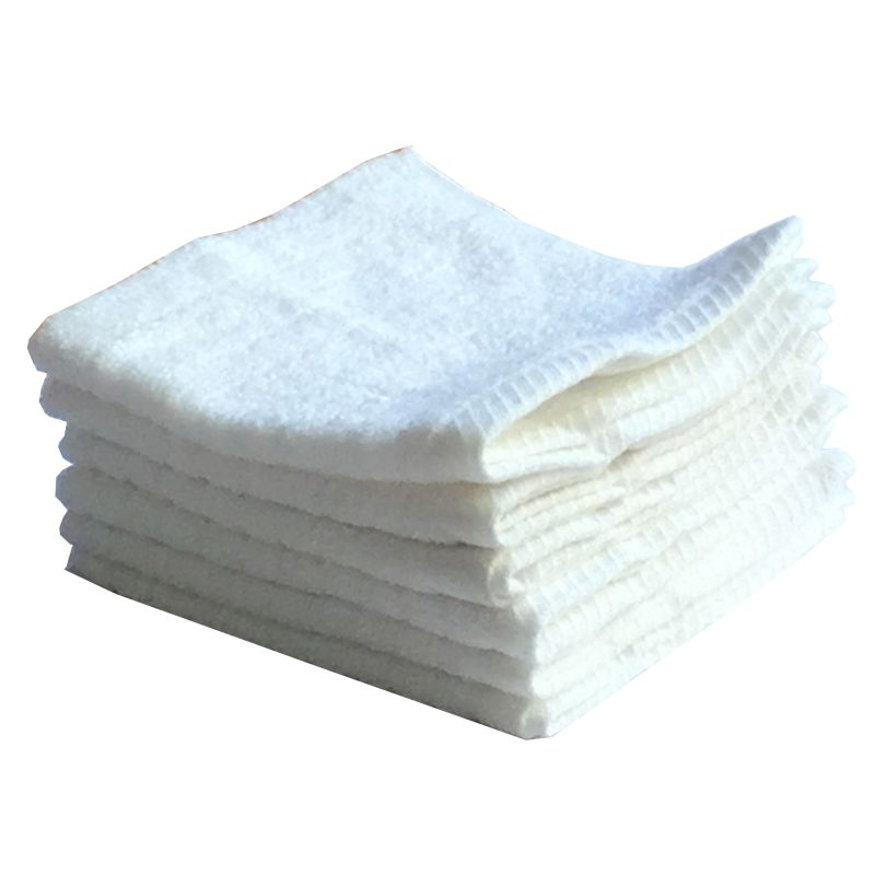 Buy Lushomes Cotton White Face Towel Set (pack Of 6) online