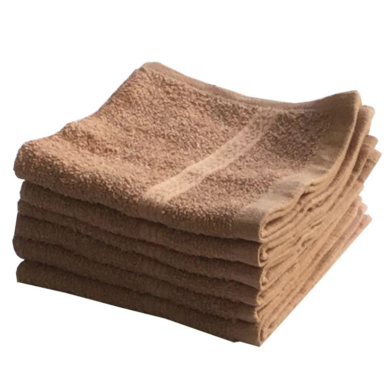 Buy Lushomes Cotton Light Brown Face Towel Set (pack Of 6) online