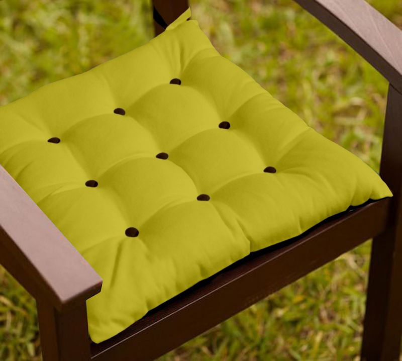 Buy Lushomes French Roast And Palm Chair Cushion With 18 Buttons 4 Strings online