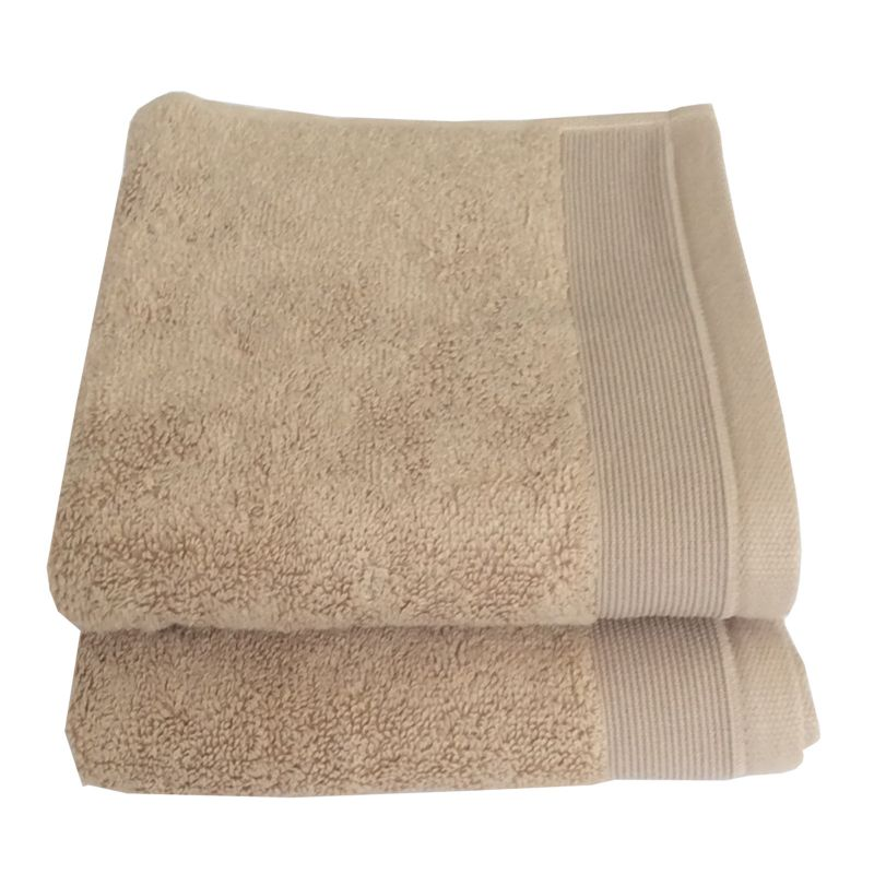 Buy Lushomes Cotton Light Brown Hand Towel Set (pack Of 2) online