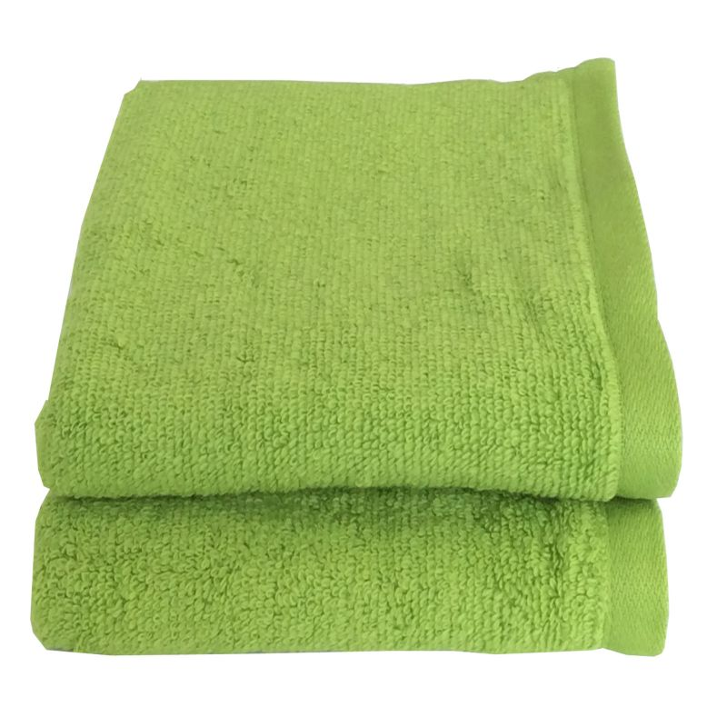 Buy Lushomes Cotton Light Green Hand Towel Set (pack Of 2) online