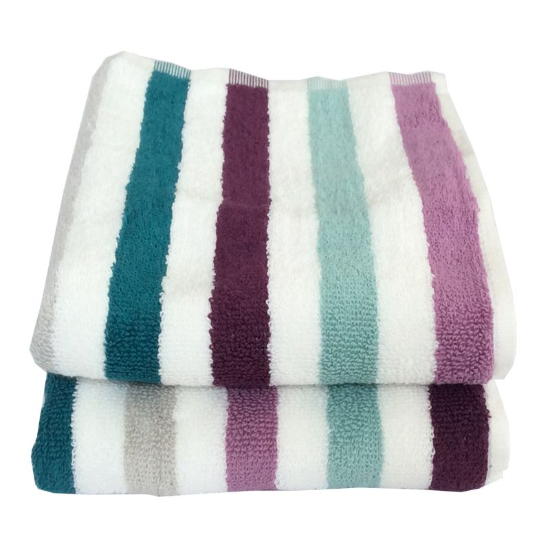 Buy Lushomes Cotton Multi Hand Towel Set (pack Of 2) online