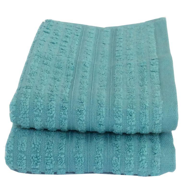 Buy Lushomes Cotton Light Blue Hand Towel Set (pack Of 2) online