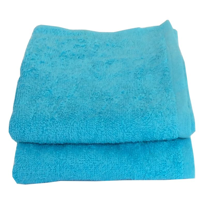Buy Lushomes Cotton Turq Hand Towel Set (pack Of 2) online
