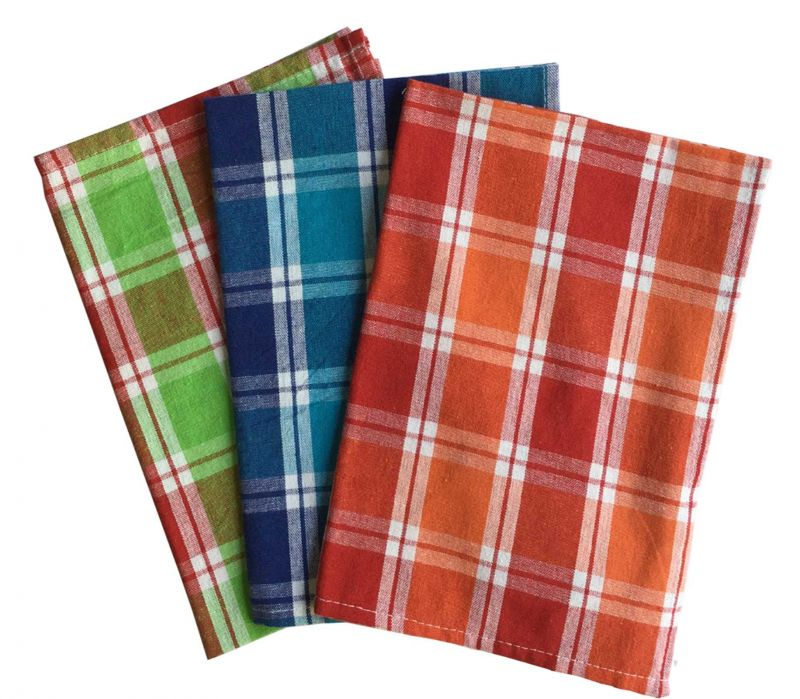 Buy Lushomes Yarn Dyed Kitchen Towels (Pack Of 3 - Multicolour) online