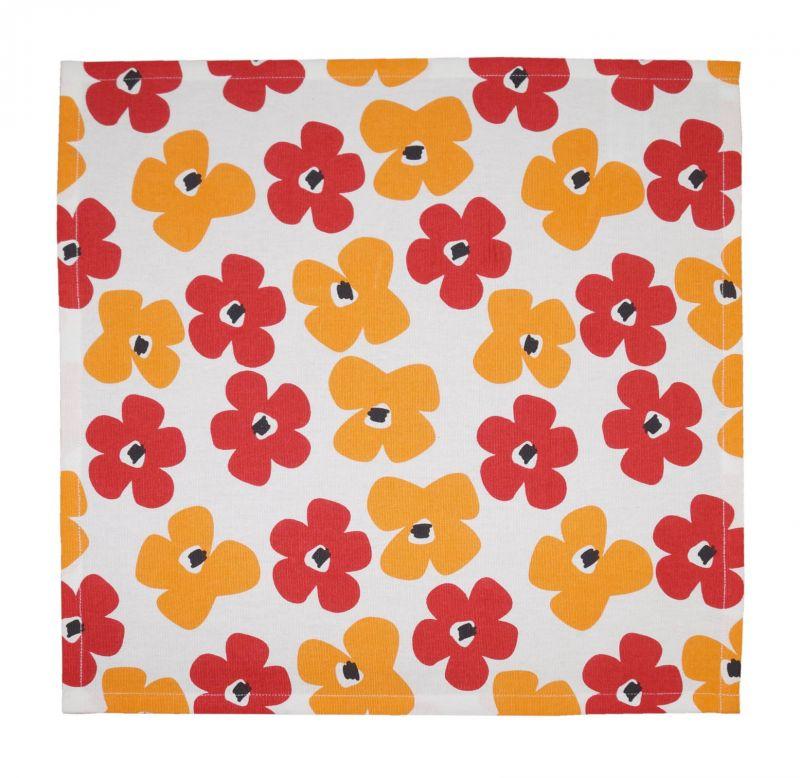 Buy Lushomes Basic Printed Cotton 6 Table Napkins Set (dinner Napkins) online