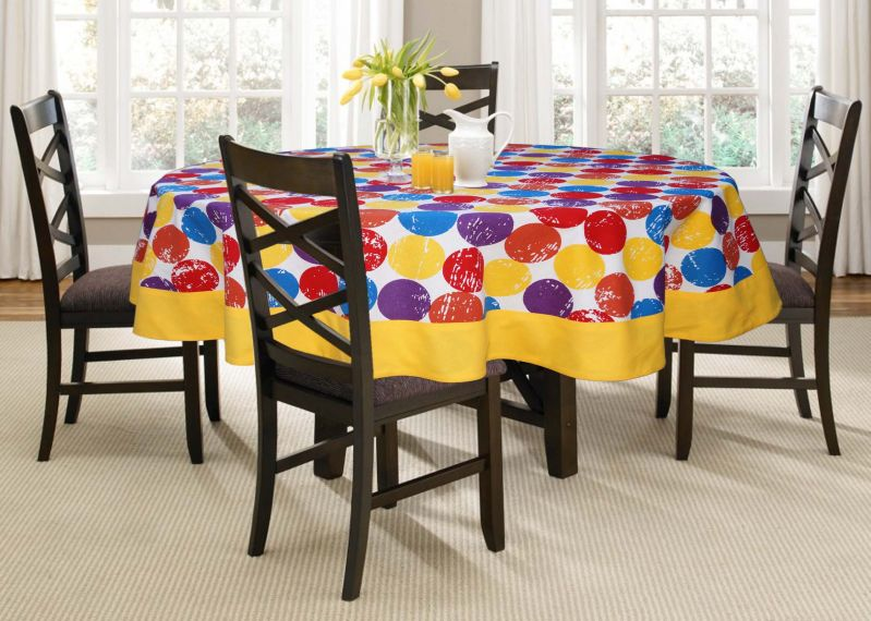 Buy Lushomes 4 Seater Titac Printed Round Table Cloth online