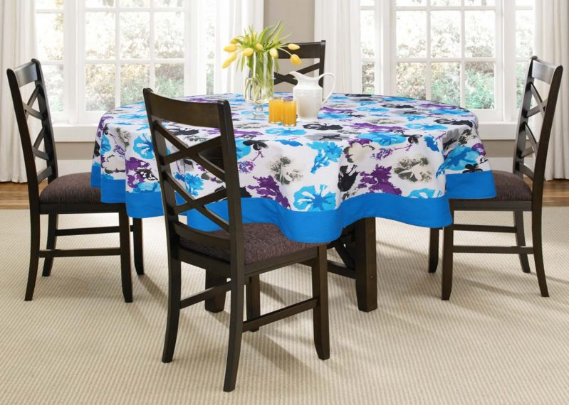 Buy Lushomes 6 Seater Watercolor Printed Round Table Cloth online