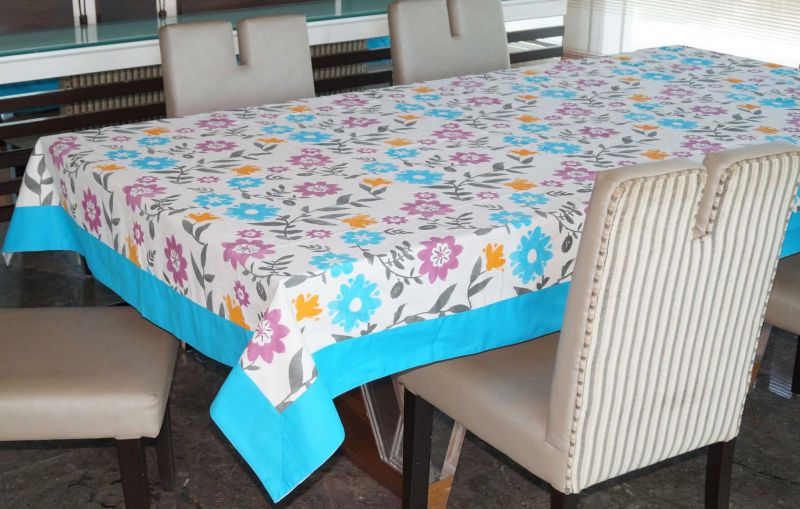 Buy Lushomes 8 Seater Flower Printed Table Cloth online