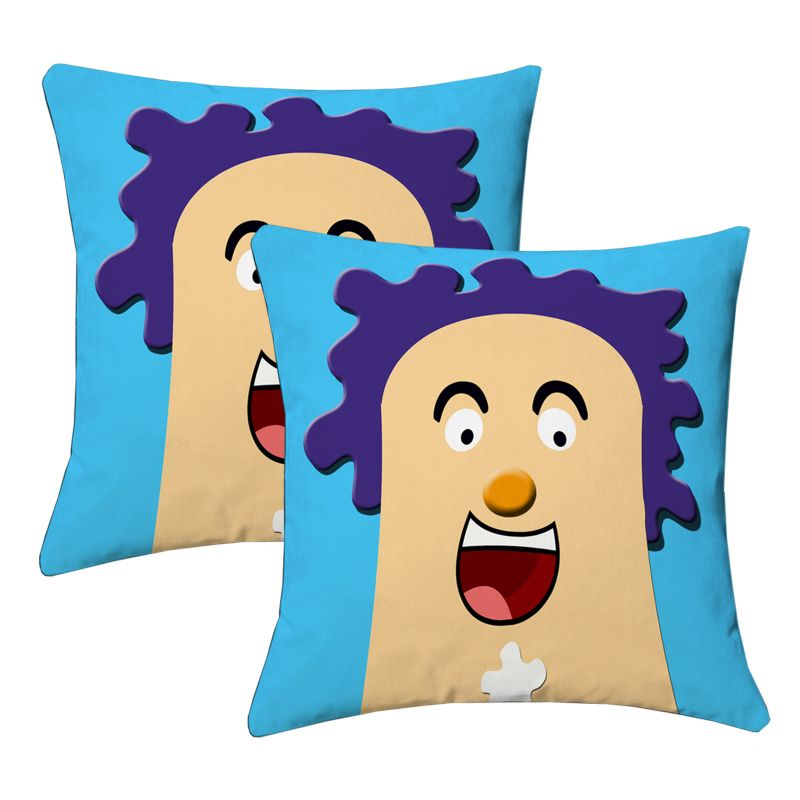 Buy Lushomes Kids Digital Print Laughter Cushion Covers (pack Of 2) online