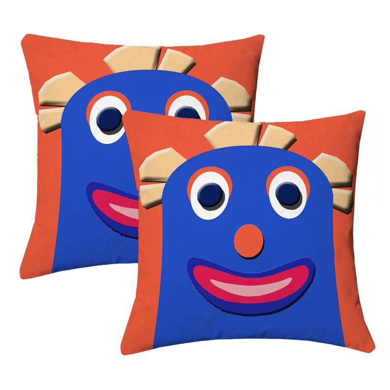 Buy Lushomes Kids Digital Print Bald Funny Woman Cushion Covers (pack Of 2) online