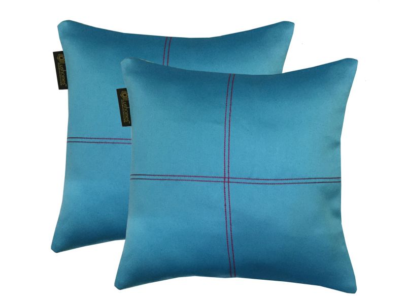 Buy Lushomes Tac Blackout Cushion Cover With Artistic Stitch online