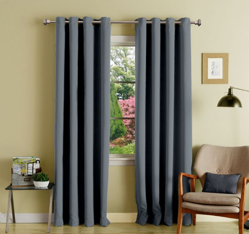 Buy Lushomes Polyester Blackout Curtains With 8 Eyelets For Door online