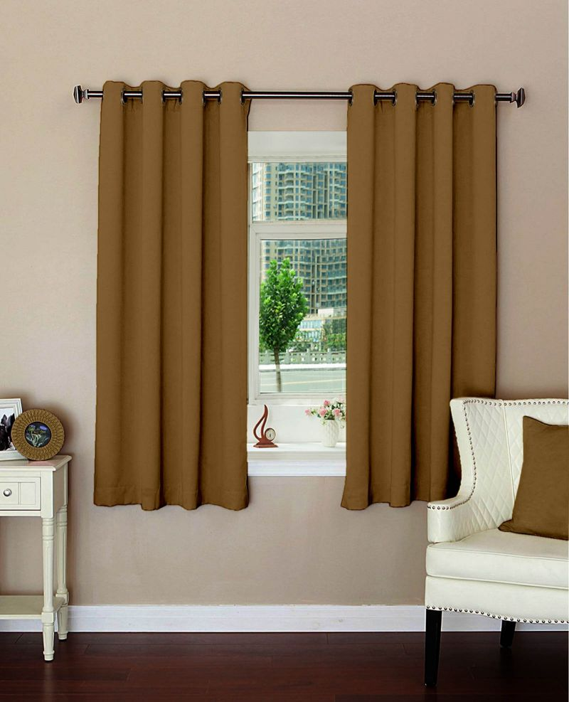 Buy Lushomes Strong Ground Polyester Blackout Curtains For Windows online