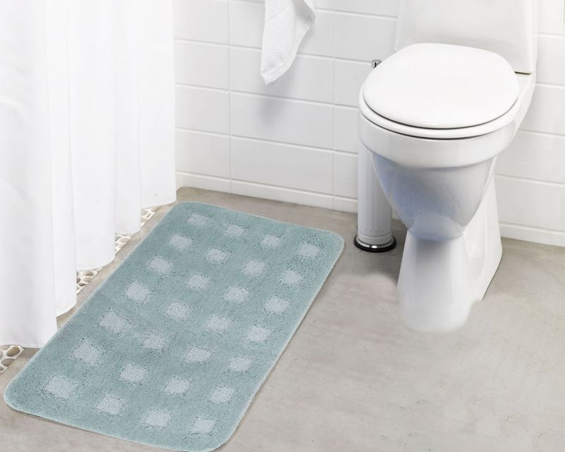 Buy Lushomes Ultra Soft Microfiber Polyester Warm Silver Large Bath Mat online