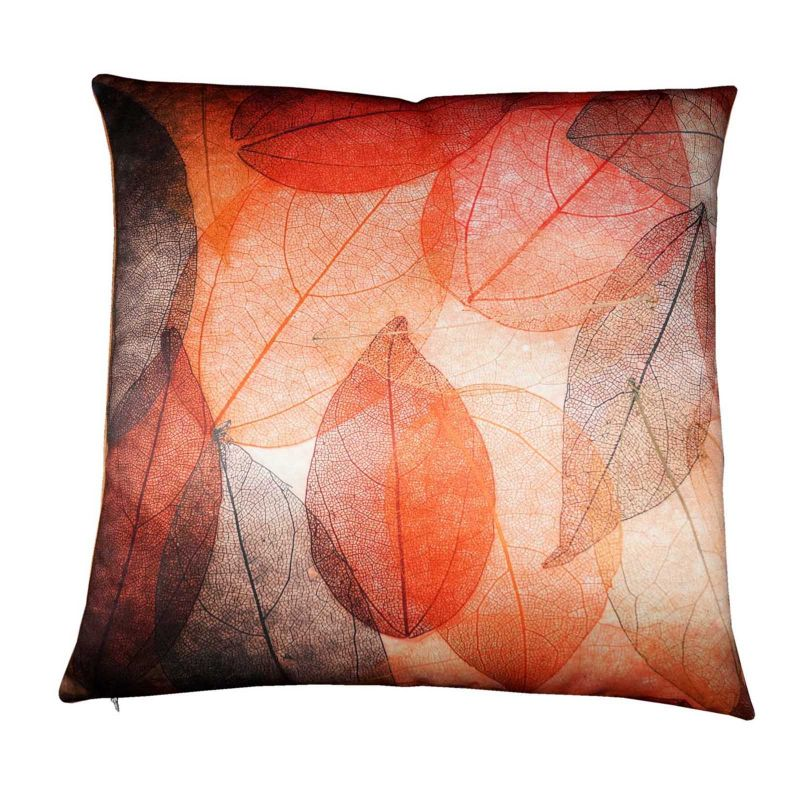 Buy Lushomes Digital Printed Leaves Cushion Cover On Premium Whiteout Fabric online