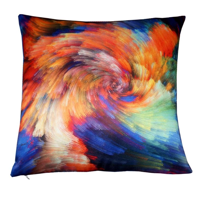 Buy Lushomes Digital Printed Rainbow Cushion Cover On Premium Whiteout Fabric online