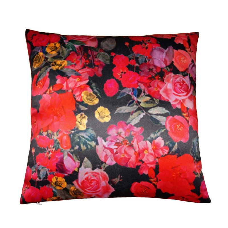 Buy Lushomes Digital Printed Rose Cushion Cover On Premium Whiteout Fabric online