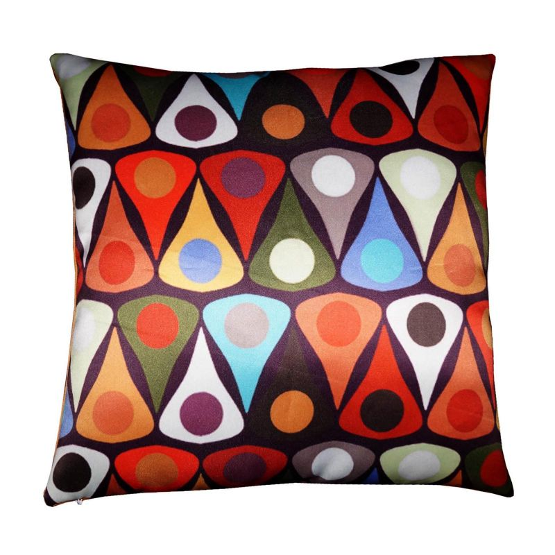 Buy Lushomes Digital Abstract Printed Cushion Cover On Premium Whiteout Fabric online