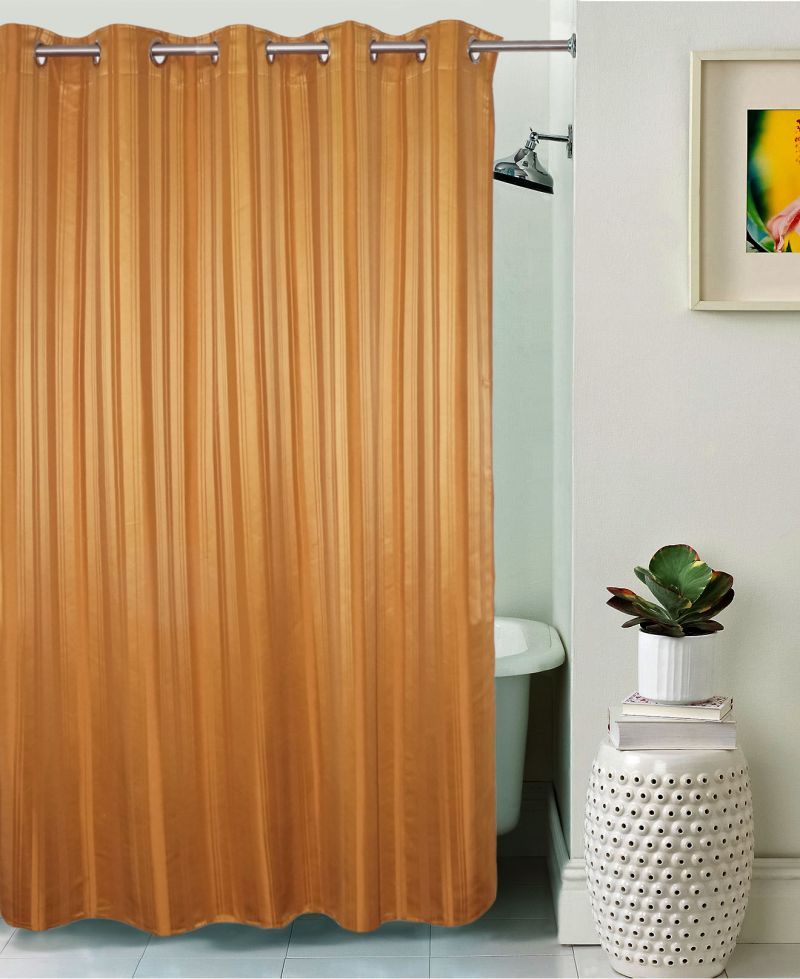 Buy Lushomes Unidyed Cashew Polyester Shower Curtain With 10 Eyelets online