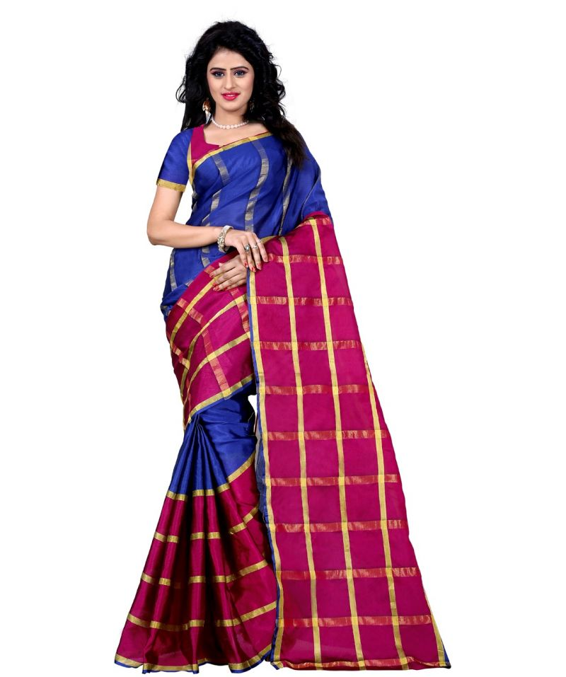 Buy Wama Tussar Silk Pink Saree With Blouse(tz_shreya_pink) online