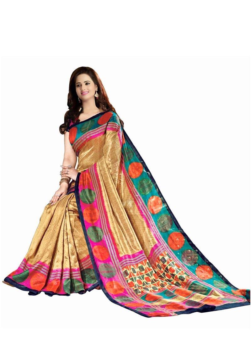 Buy Wama Fashion Bhagalpuri Cotton Sari With Blouse (tz_anmol) online