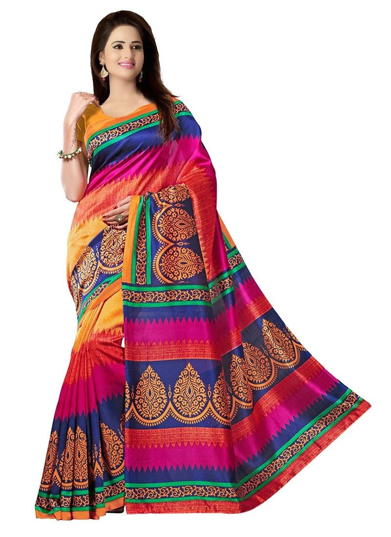 Buy Wama Fashion Cotton Sari With Blouse (tz_coktail) online