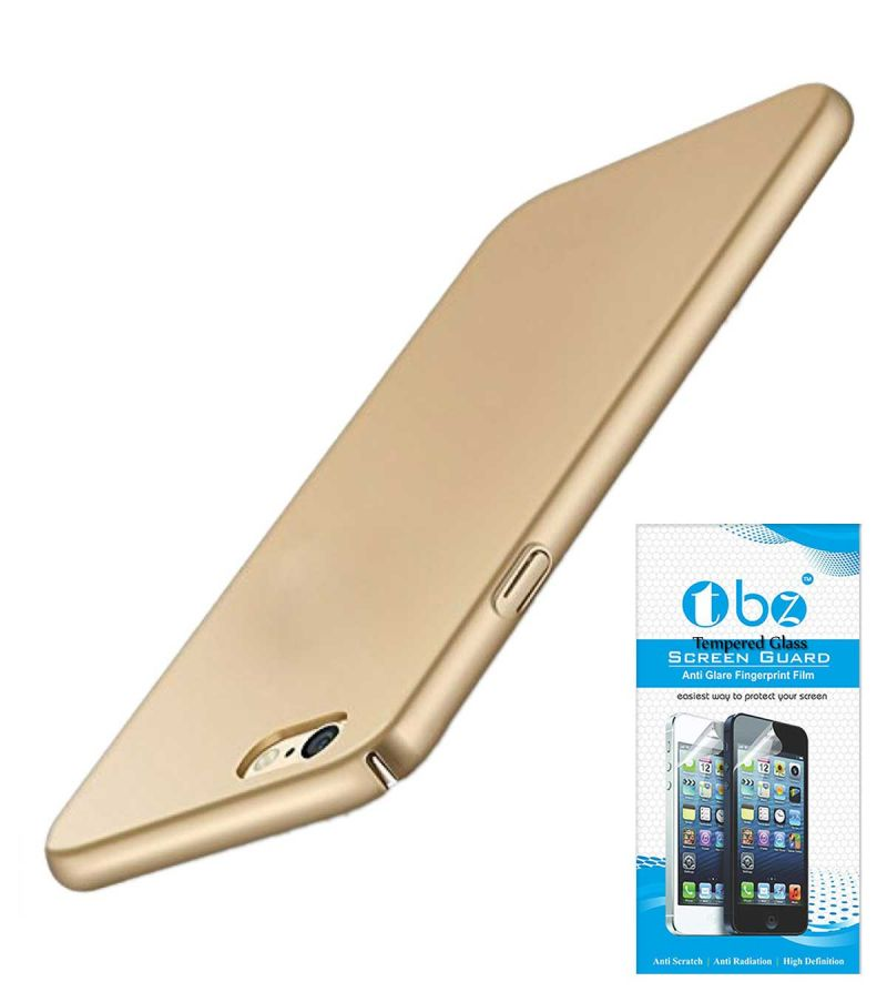 Buy Tbz All Sides Protection Hard Back Case Cover For Vivo V5 With Tempered Screen Guard -golden online