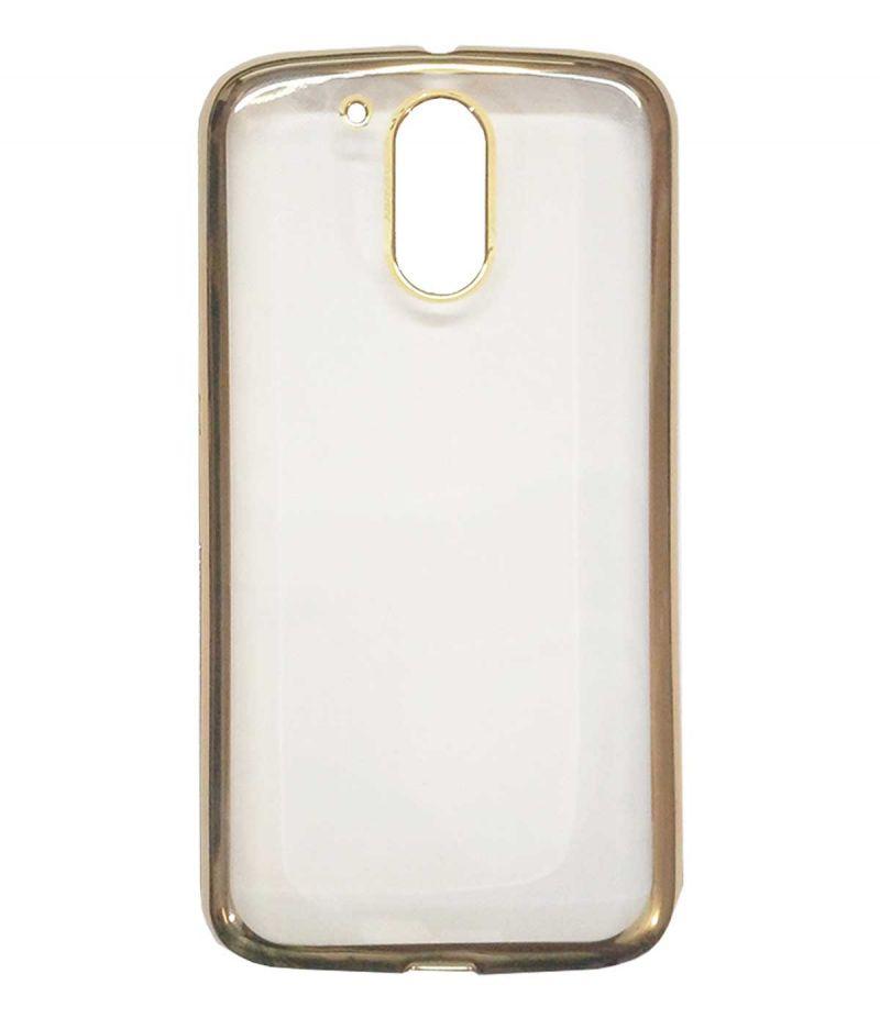 san francisco df067 85fbb Tbz Transparent Electroplated Edges Tpu Back Case Cover For Motorola Moto  G4 Plus - Golden