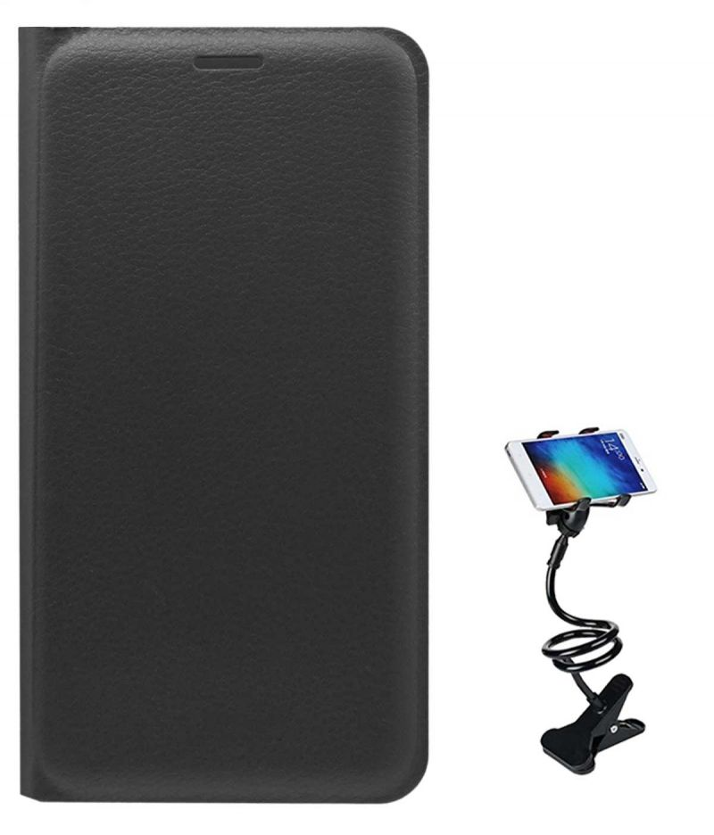 Buy Tbz Pu Leather Flip Cover Case For Xiaomi Redmi 3s Prime With Flexible Tablet/phone Holder Lazy Stand - Black online
