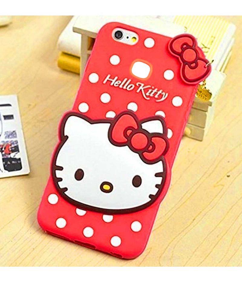 wholesale dealer 547b3 fd931 Tbz Cute Hello Kitty Soft Rubber Silicone Back Case Cover For Vivo V7 Plus