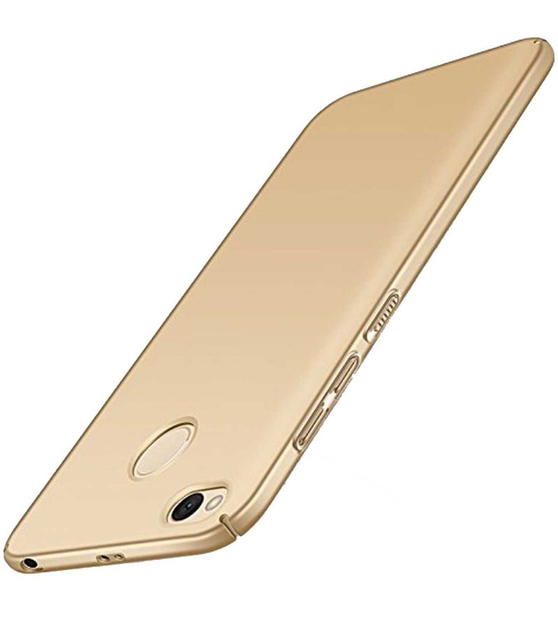 Buy Tbz Protective Hard Back Case Cover For Xiaomi Redmi 4 - Golden online