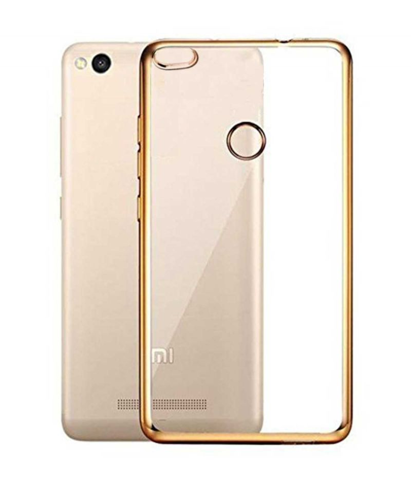 Buy Tbz Transparent Electroplated Edges Tpu Back Case Cover For Xiaomi Redmi 3s Prime -golden online
