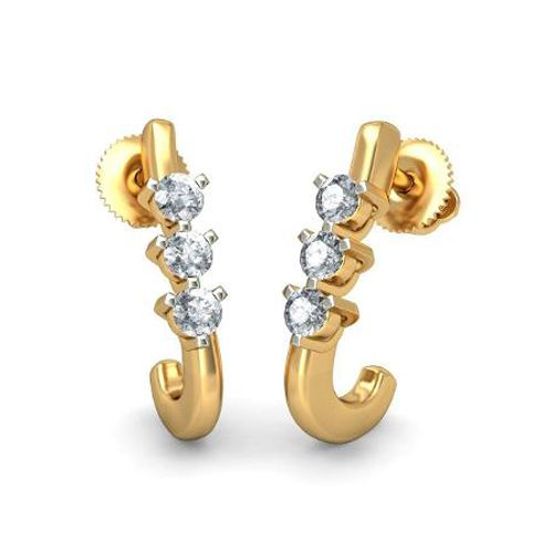 bb224efd3d1be Sheetal Impex 0.18 Cts Real Natural Designer Diamond Earring In14 Kt Gold  El0090