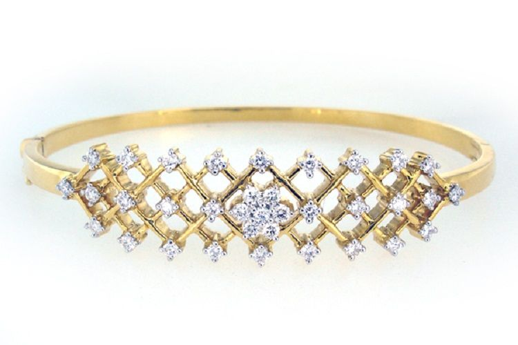 Buy Sheetal Impex Certified 1.00 Ctw Real Natural Brilliant Cut Si2 Clarity Diamonds 14kt Yellow Gold Bracelet - B00017 online