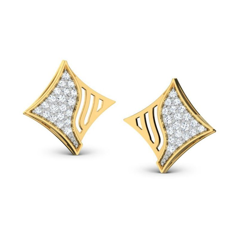 Buy Sheetal Impex 0.60 Tcw Real Natural Diamond Studded 14k Yellow Gold online