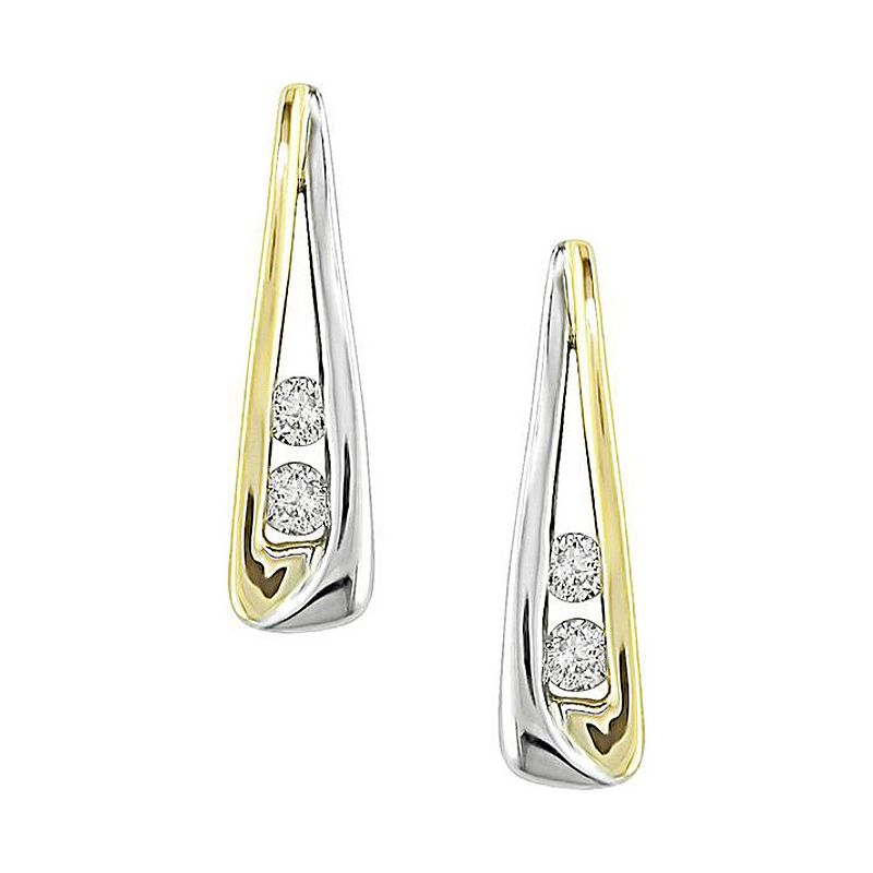 Buy Sheetal Impex 14k Yellow Gold Certified 0.20tcw Real Diamond Hoop Earring online
