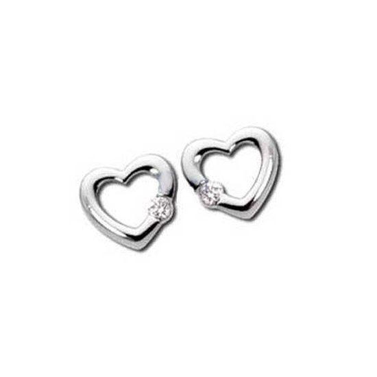 Sheetal Impex Certified Heart Shape Natural Diamond 10kt White Gold Earring