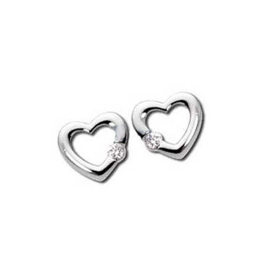 Sheetal Impex Certified Heart Shape Real Natural Diamond White Gold Earring Online