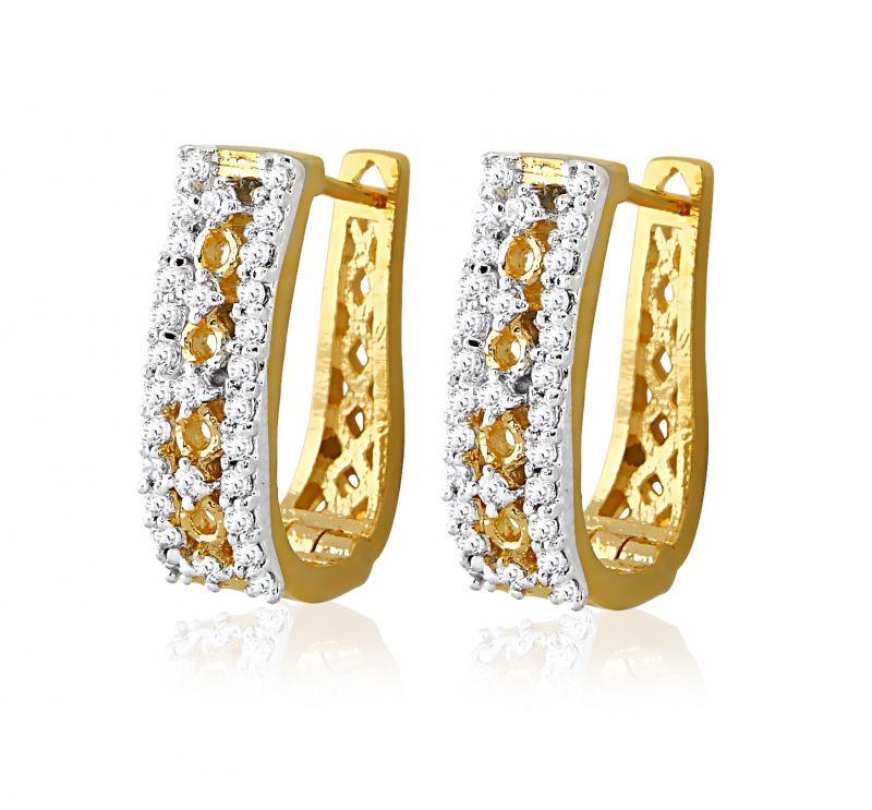 e0d3b56da01ed Sheetal Impex Certified New Designer Natural Diamonds Yellow Gold Earring