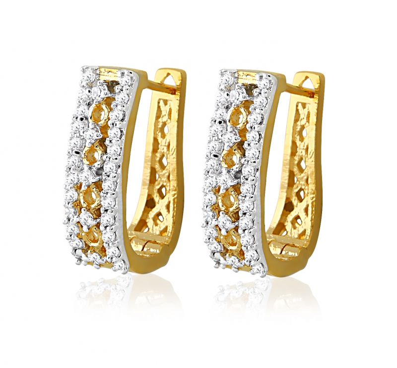Sheetal Impex Certified New Designer Real Natural Diamonds 18k Gold Earring Online Best Prices In India Rediff Ping