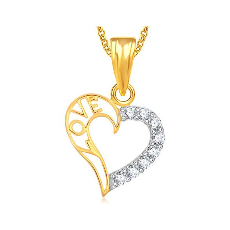Buy Real Diamond Certified Heart Shape Pendant 10k Yellow Gold online